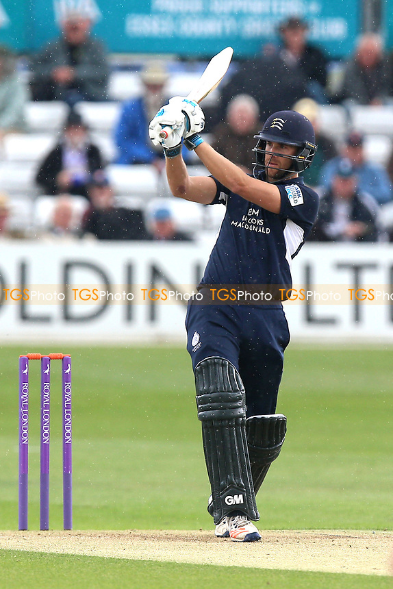 Dawid Malan in batting action for Middlesex during Essex Eagles vs Middlesex, Royal London One-Day Cup Cricket at The Cloudfm County Ground on 12th May 2017