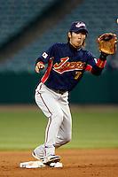 Tsuyoshi Nishioka of Japan during World Baseball Championship at Angel Stadium in Anaheim,California on March 14, 2006. Photo by Larry Goren/Four Seam Images