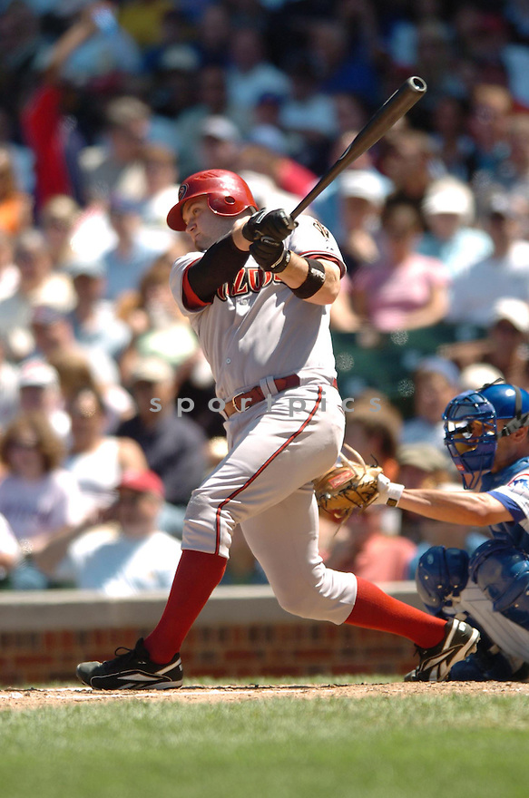 CHRIS SYNDER, of the Arizona Diamondbacks , in action during the Diamondbacks  game against the Chicago Cubs in Chicago, IL  on July 20,  2007...Cubs  win 6-2...DAVID DUROCHIK / SPORTPICS.