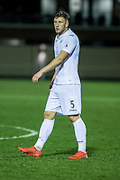 Friday  16 December 2014<br /> Pictured:  Dan Jefferies of Swansea City <br /> Re: Swansea City U18s v Wolverhampton Wonderers U18s, 3rd Round FA youth Cup Match at the Landore Training Facility, Swansea, Wales, UK