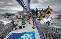 Onboard the Maxi Trimaran Banque Populaire V