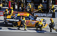 Mar. 1, 2009; Las Vegas, NV, USA; NASCAR Sprint Cup Series driver Jeff Burton pits during the Shelby 427 at Las Vegas Motor Speedway. Mandatory Credit: Mark J. Rebilas-