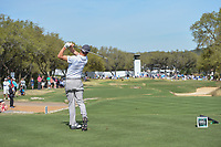 Justin Thomas (USA) watches his tee shot on 7 during round 1 of the World Golf Championships, Dell Match Play, Austin Country Club, Austin, Texas. 3/21/2018.<br /> Picture: Golffile | Ken Murray<br /> <br /> <br /> All photo usage must carry mandatory copyright credit (&copy; Golffile | Ken Murray)
