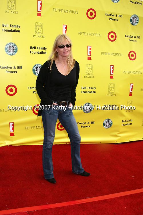 """Rebecca De Morney.PS Arts """"Express Yourself"""" Benefit.Barker Hanger.Santa Monica, CA.November 2, 2007.©2007 Kathy Hutchins / Hutchins Photo...               ."""
