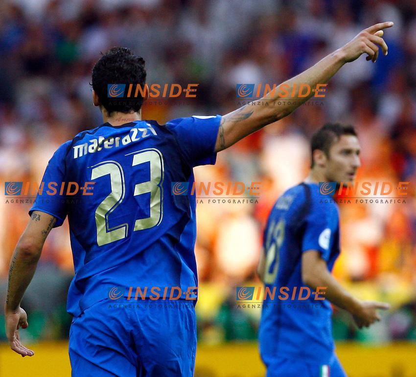 Berlino 9/7/2006 World Cup 2006 - Italia Francia 6-4 (d.c.r.).Italia Campione del Mondo..Marco MATERAZZI and Francesco TOTTI.Photo Andrea Staccioli Insidefoto.