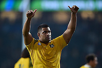 Scott Sio of Australia celebrates with the crowd after the match. Rugby World Cup Pool A match between England and Australia on October 3, 2015 at Twickenham Stadium in London, England. Photo by: Patrick Khachfe / Onside Images