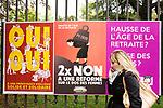 Gen&egrave;ve, le 19.09.2017<br /> Affiches pour les votations cantonales du 24 septembre 2017.<br /> Le Courrier / &copy; C&eacute;dric Vincensini