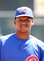 Jeff Antigua, Chicago Cubs 2010 minor league spring training..Photo by:  Bill Mitchell/Four Seam Images.