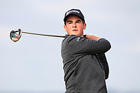Lucas Abrial (FRA) on the 5th tee during Round 1 of the The Amateur Championship 2019 at The Island Golf Club, Co. Dublin on Monday 17th June 2019.<br /> Picture:  Thos Caffrey / Golffile<br /> <br /> All photo usage must carry mandatory copyright credit (© Golffile | Thos Caffrey)