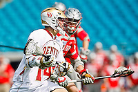February 19, 2012:   Lacrosse action between the Ohio State Buckeyes and the Denver Pioneers during the Moe's Southwest SunShine Classic played at EverBank Field in Jacksonville, Florida. Ohio State defeated Denver 10-9.