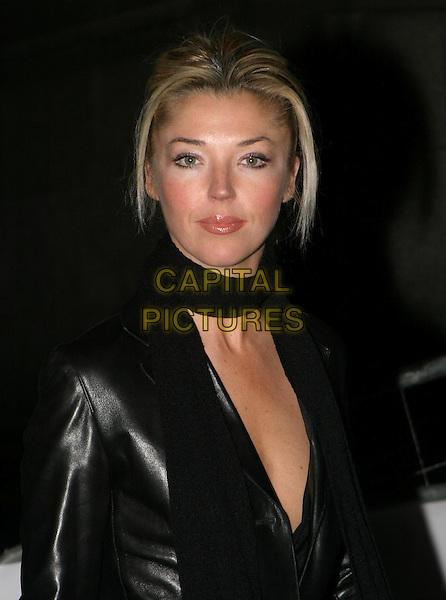 TAMARA BECKWITH.The Saatchi Gallery's first anniversary party at County Hall which coincides with the launch of new exhibition New Blood.23 March 2004.headshot, portrait, scarf.www.capitalpictures.com.sales@capitalpictures.com.© Capital Pictures.