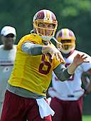 Washington Redskins reserve quarterback Rex Grossman (8) participates in passing drills during the 2013 minicamp at Redskins Park in Ashburn, Virginia on Wednesday, June 12, 2013.<br /> Credit: Ron Sachs / CNP