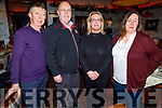 Gerard Walsh, Dermot, Francis and Breda Sugrue from Tralee enjoying the evening in the Grand Hotel on Saturday.