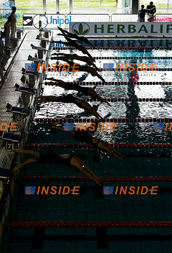 partenza..Campionati Italiani Assoluti Nuoto Primaverili..Riccione  9 - 13/04/2013..Day02 batterie..Photo Giorgio Scala/Deepbluemedia/Insidefoto