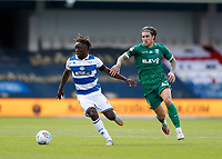 11th July 2020; The Kiyan Prince Foundation Stadium, London, England; English Championship Football, Queen Park Rangers versus Sheffield Wednesday; Josh Windass of Sheffield Wednesday marking Osman Kakay of Queens Park Rangers