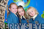 FRIENDS: Aoibheann Griffin, Faith Russell and Rachel O'Carroll making friends on their first day of school in Balloonagh NS on Thursday morning last.   Copyright Kerry's Eye 2008