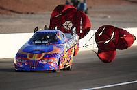 Mar. 31, 2012; Las Vegas, NV, USA: NHRA top alcohol funny car driver Brian Smith during qualifying for the Summitracing.com Nationals at The Strip in Las Vegas. Mandatory Credit: Mark J. Rebilas-
