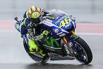 Valentino Rossi (46) in action during the first practice session of the Red Bull Grand Prix of the Americas race at the Circuit of the Americas racetrack in Austin,Texas.