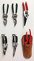 Collection of garden secateurs.