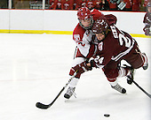 Colin Moore (Harvard - 12), Nathan Sinz (Colgate - 24) - The Harvard University Crimson defeated the visiting Colgate University Raiders 6-2 (2 EN) on Friday, January 28, 2011, at Bright Hockey Center in Cambridge, Massachusetts.