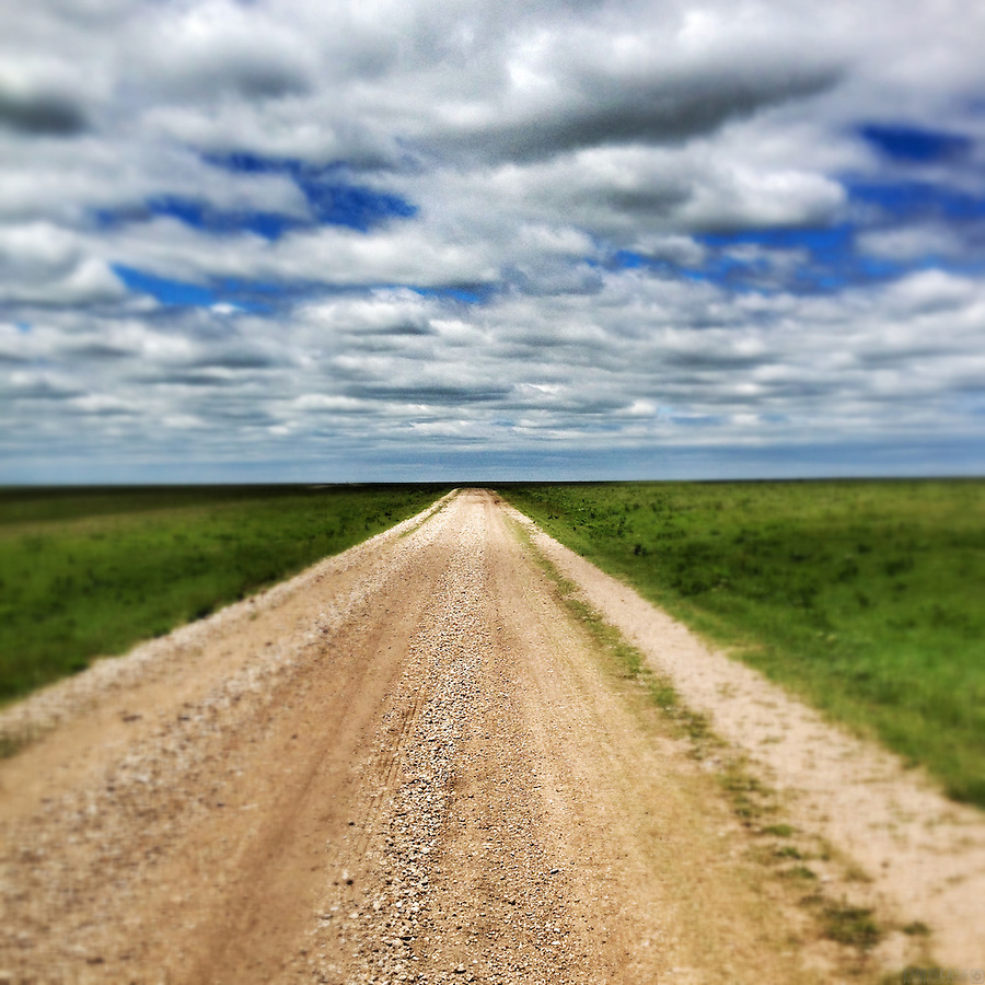 "The open range of Kansas, as seen on the route of the 2013 Dirty Kanza 200, a 200-mile dirt road (""gravel grinder"") race across Kansas."
