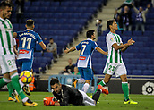 30th October 2017, Cornella-El Prat, Cornella de Llobregat, Barcelona, Spain; La Liga football, Espanyol versus Real Betis; Gerard Moreno celebrates his goal