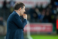Manager of West Ham United, Slaven Bilic looks on during the Barclays Premier League match between Swansea City and West Ham United played at the Liberty Stadium, Swansea  on December 20th 2015