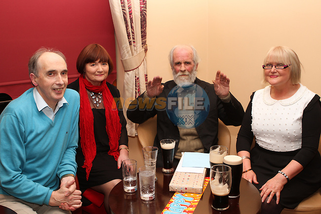 Thomas Smith at his 70th birthday party in Hanrattys with Connie McCabe, Mary McCabe and Gabrial Rainsford...Photo NEWSFILE/Jenny Matthews..(Photo credit should read Jenny Matthews/NEWSFILE)