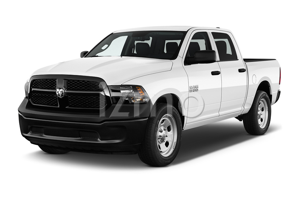 2017 Ram Ram 1500 Tradesman Crew 4 Door Pick Up angular front stock photos of front three quarter view