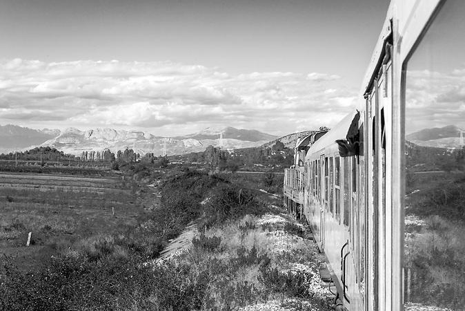 Blick aus dem Zug Richtung Shkodra
