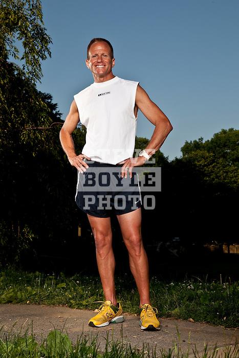 Runner Freddie Klevan at his home in Merion Station, Pennsylvania on May 31, 2009.Runner Freddie Klevan at his home in Merion Station, Pennsylvania on May 31, 2009.