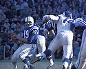 Baltimore Colts Johnny Unitas(19) in action during a game against the Los Angeles Rams at Los Angeles Memorial Coliseum in Los Angeles, California on December 17, 1967.  The Rams beat the Colts 34-10. Johnny Unitas played for 18  years with 2 different and was inducted to the Pro Football Hall of Fame in 1979.David Durochik/SportPics
