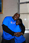 "One Life To Live Shenell Edmonds ""Destiny"" poses with Sean Ringgold at the 9th Annual American Cancer Society on October 7, 2012 at Bowlmor Lanes Times Square, New York City, New York.  (Photo by Sue Coflin/Max Photos)"