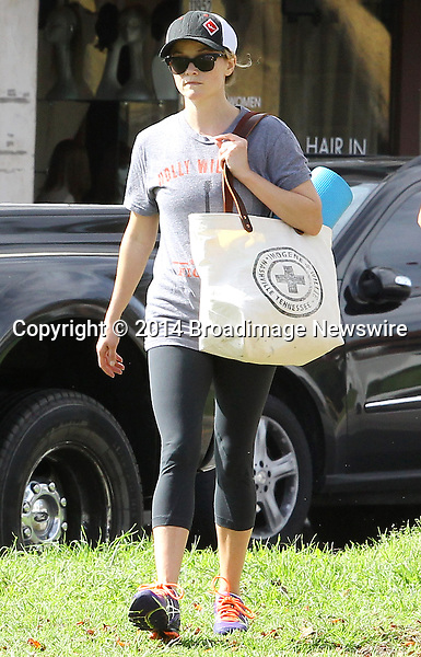 Pictured: Reese Witherspoon<br /> Mandatory Credit &copy; Ben Foster/Broadimage<br /> Reese Witherspoon leaving Yoga Classes in Brentwood<br /> <br /> 3/7/14, Brentwood, California, United States of America<br /> <br /> Broadimage Newswire<br /> Los Angeles 1+  (310) 301-1027<br /> New York      1+  (646) 827-9134<br /> sales@broadimage.com<br /> http://www.broadimage.com<br /> <br /> <br /> Pictured: Reese Witherspoon<br /> Mandatory Credit &copy; Ben Foster/Broadimage<br /> Reese Witherspoon leaving Yoga Classes in Brentwood<br /> <br /> 3/7/14, Brentwood, California, United States of America<br /> Reference: 030714_HDLA_BDG_002<br /> <br /> Broadimage Newswire<br /> Los Angeles 1+  (310) 301-1027<br /> New York      1+  (646) 827-9134<br /> sales@broadimage.com<br /> http://www.broadimage.com