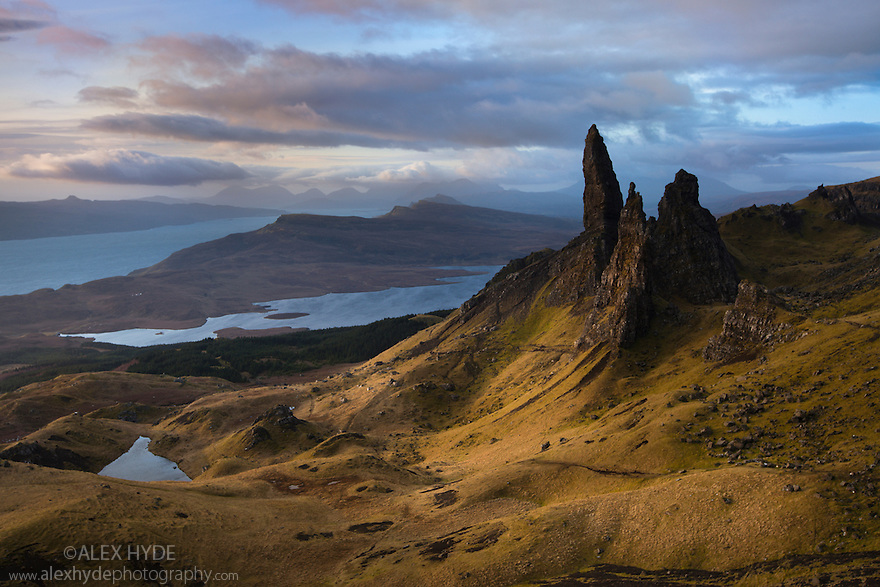 The Old Man of Storr, Trotternish, Isle of Skye, Scotland. March.