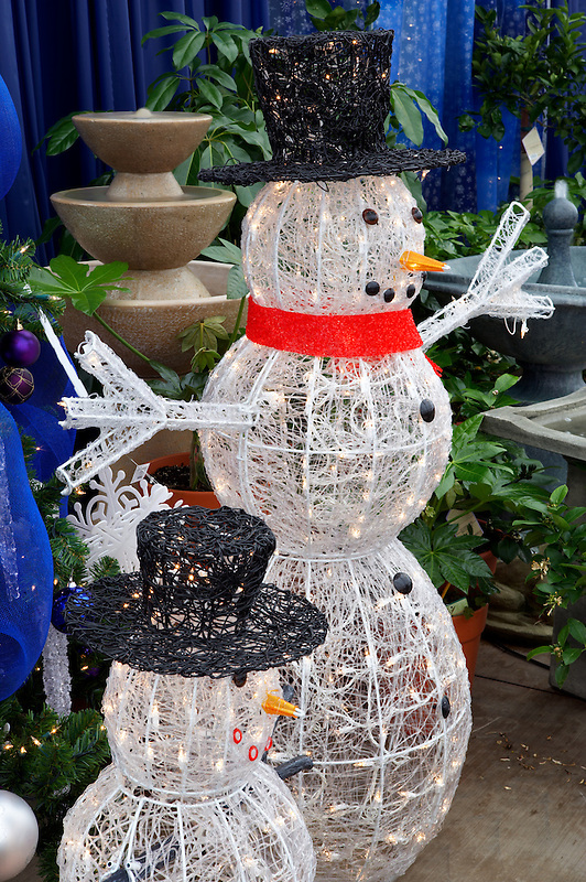 Christmas decoration-snowman. Al's Nursery. Sherwood. Oregon
