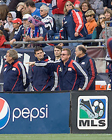 New England Revolution head coach Steve Nicol offers some advice. The New England Revolution out scored the Chicago Fire, 2-1, in Game 1 of the Eastern Conference Semifinal Series at Gillette Stadium on November 1, 2009.