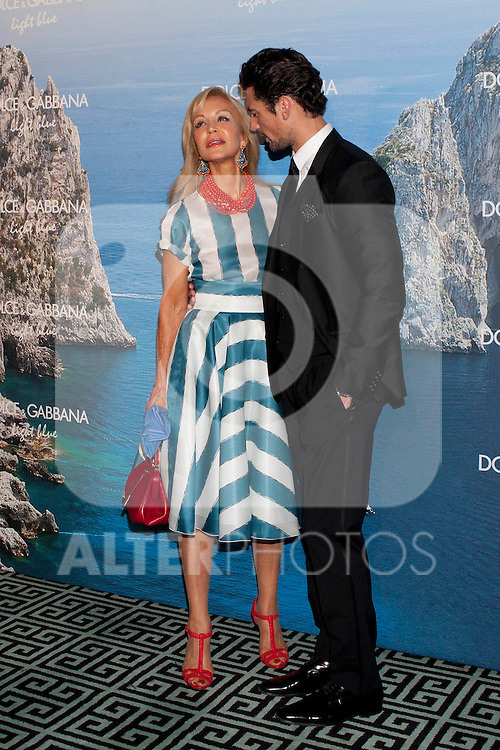 Carmen Lomana and model David Gandy attends Mediterranean Summer Cocktail By Dolce & Gabbana at the Santo Mauro Hotel. May 29, 2013. (ALTERPHOTOS/ACERO)