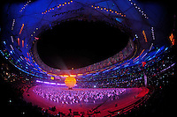 Aug. 8, 2008; Beijing, CHINA; Performers in action during the opening ceremonies for the 2008 Beijing Olympic Games at the National Stadium. Mandatory Credit: Mark J. Rebilas-
