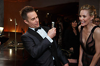 Oscar&reg; winner Sam Rockwell and Leslie Bibb at the Governors Ball following the live ABC Telecast of The 90th Oscars&reg; at the Dolby&reg; Theatre in Hollywood, CA on Sunday, March 4, 2018.<br /> *Editorial Use Only*<br /> CAP/PLF/AMPAS<br /> Supplied by Capital Pictures