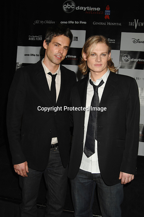 "Jason Thompson and Jeffrey Carlson ..at the afterparty for The 3rd Annual ""ABC Daytime Salutes Broadway Cares/Equity Fights Aids "" Benefit at the Marriott Marquis in New York on February 25, 2007. ..Robin Platzer, Twin Images.."