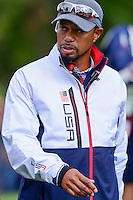 Tiger Woods (USA) during the practice round at the Ryder Cup, Hazeltine National Golf Club, Chaska, Minnesota, USA.  9/29/2016<br /> Picture: Golffile | Ken Murray<br /> <br /> <br /> All photo usage must carry mandatory copyright credit (&copy; Golffile | Ken Murray)