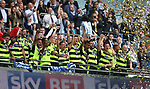 Huddersfield's players celebrate getting promotion during the Championship Play-Off Final match at Wembley Stadium, London. Picture date: May 29th, 2017. Pic credit should read: David Klein/Sportimage