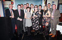 Repro Free.The Winners back row from left to right: Michael Ryan, Peter Horgan, Pol O Conghaile,Philip Leahy, Ed Leahy, Gonzalo Ceballos, Mal Rogers,Deirdre Mullins, tony McCullagh and Tom Sweeney..Front row left to right: Susan Morrell and Muriel Bolger.Travel Extra,Travel Journalist of the Year Awards at the Thomas Prior House Ballsbridge. The event which was sponsored by The Spanish Tourist board gave out 12 awards for different catagories. .This year saw a huge increase in the number of submissions from previous years, displaying the creativity and continuning innovation of travel and tourism journalism in Ireland..Collins Photos 25/1/13