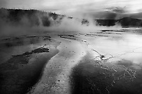 """Reflective Spring""  Yellowstone National Park  Grand Prismatic Spring 