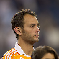 Houston Dynamo midfielder Brad Davis (11). In a Major League Soccer (MLS) match, the New England Revolution tied Houston Dynamo, 1-1, at Gillette Stadium on August 17, 2011.
