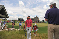 Tommy Fleetwood (ENG) approaches the number 1 tee during Saturday's round 3 of the 117th U.S. Open, at Erin Hills, Erin, Wisconsin. 6/17/2017.<br /> Picture: Golffile | Ken Murray<br /> <br /> <br /> All photo usage must carry mandatory copyright credit (&copy; Golffile | Ken Murray)