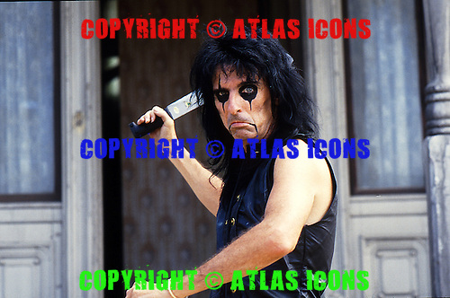 Alice Cooper ; Studio Session; Live; .Photo Credit: Michael Johansson /AtlasIcons.com