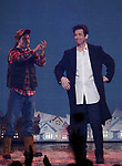 Andrew Call and Andy Karl during the Broadway Opening Night Curtain Call Bows for 'Groundhog Day' at August Wilson Theatre on April 17, 2017 in New York City.