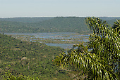 Pará State, Brazil. Aldeia Pukararankre (Kayapo). View of the river from the top of the hill.